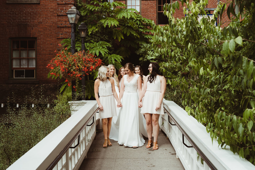 Bridal party candid