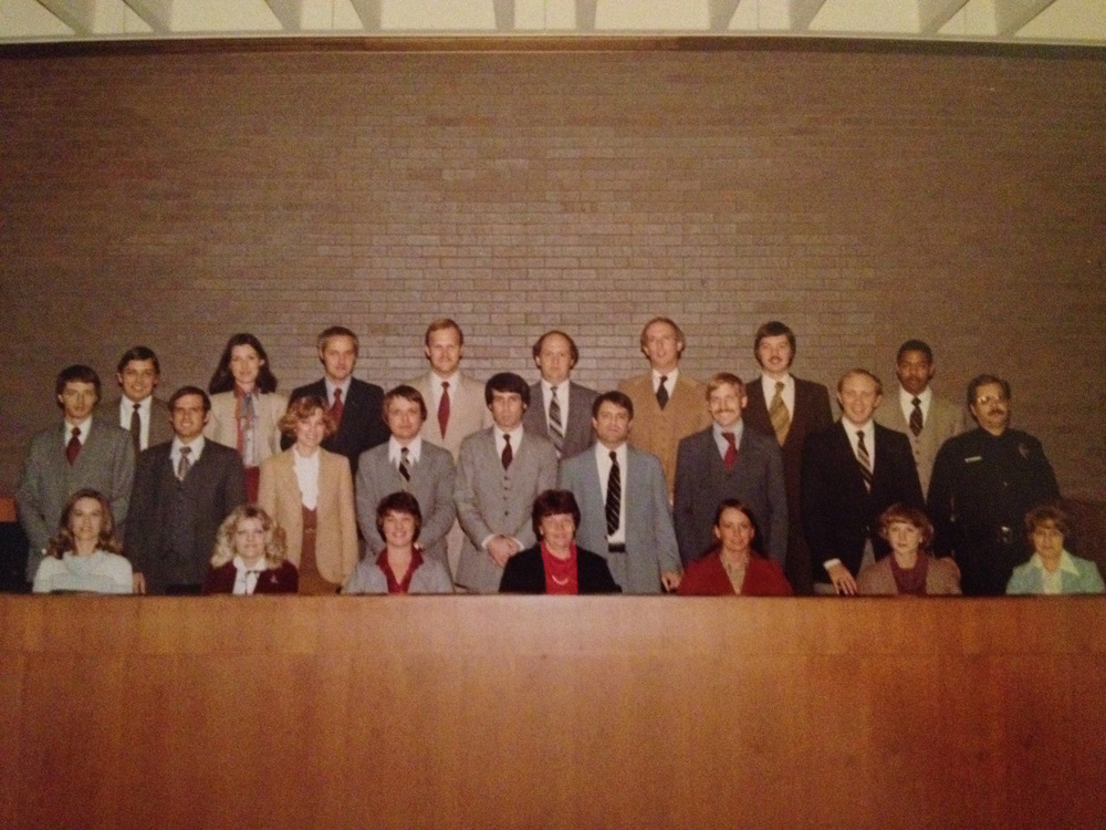 Assistant District Attorney Edmunds with the D.A.'s staff, circa 1980