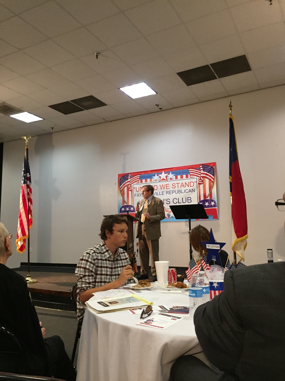 Justice Edmunds at Fayetteville Republican Club, 20 September 2015.
