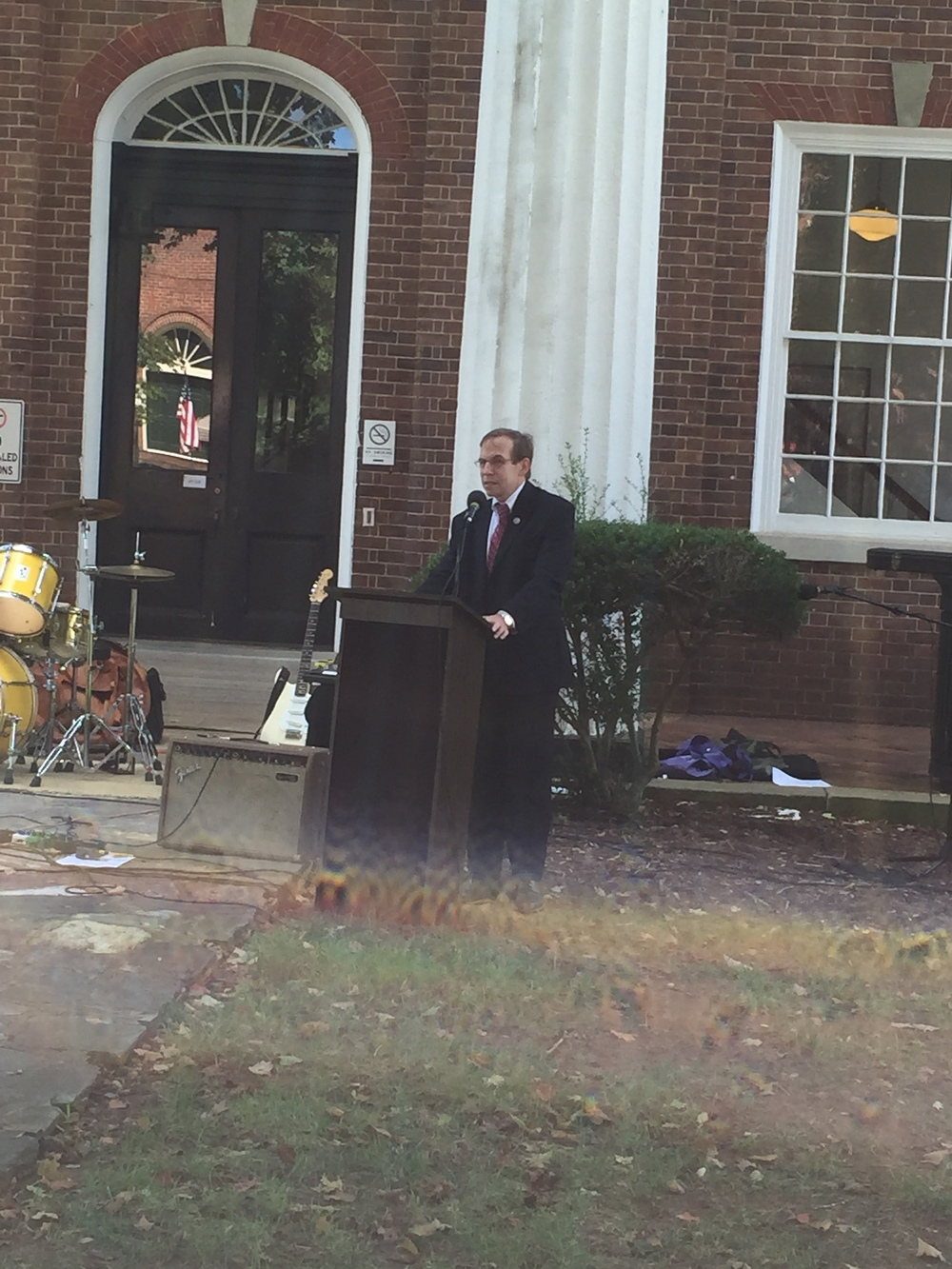 Justice Edmunds speaks at Constitution Day program, Hillsborough, 19 September 2015.