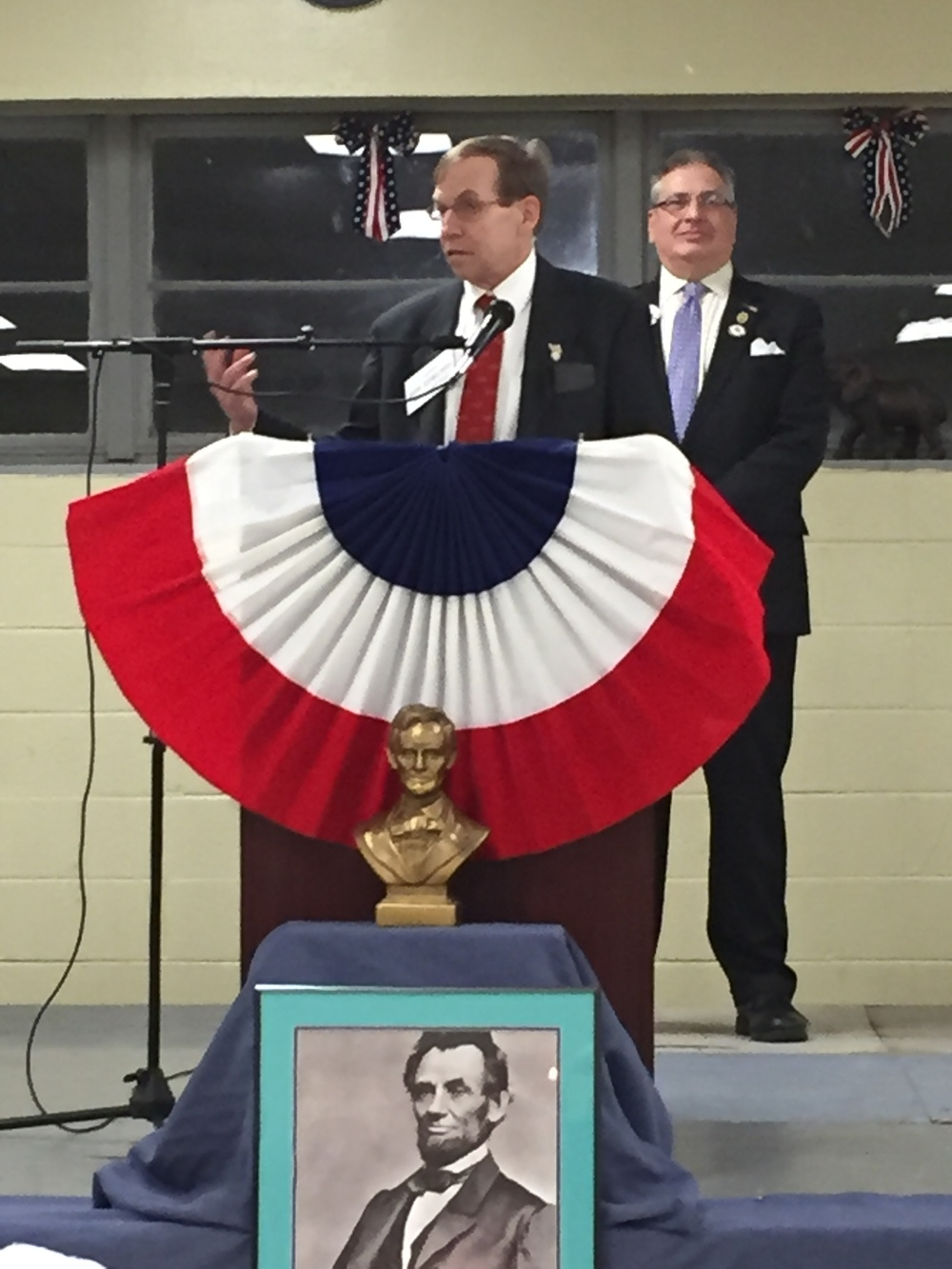 Speaking to voters in Burke County, 20 February 2016.