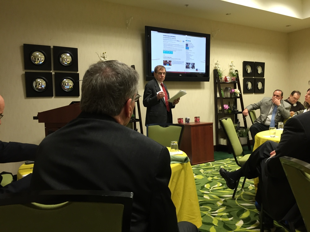 Speaking about Magna Carta to Yadkin Valley Rotary, Feb. 24, 2016.
