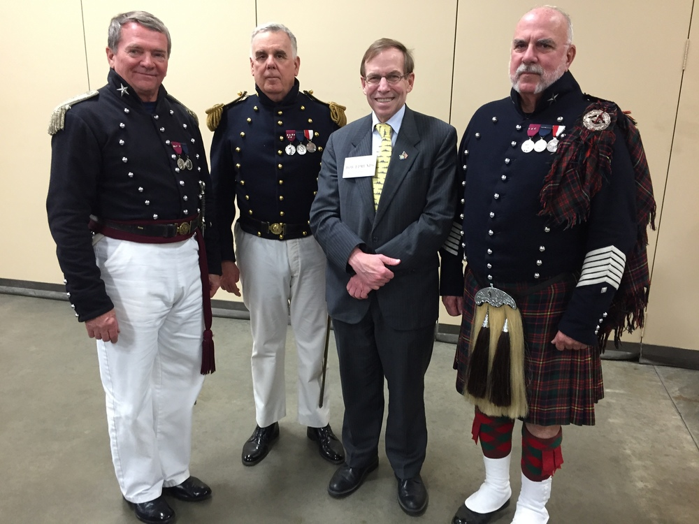 With officers and men of the Fayetteville Independent Light Infantry, March 17, 2016.