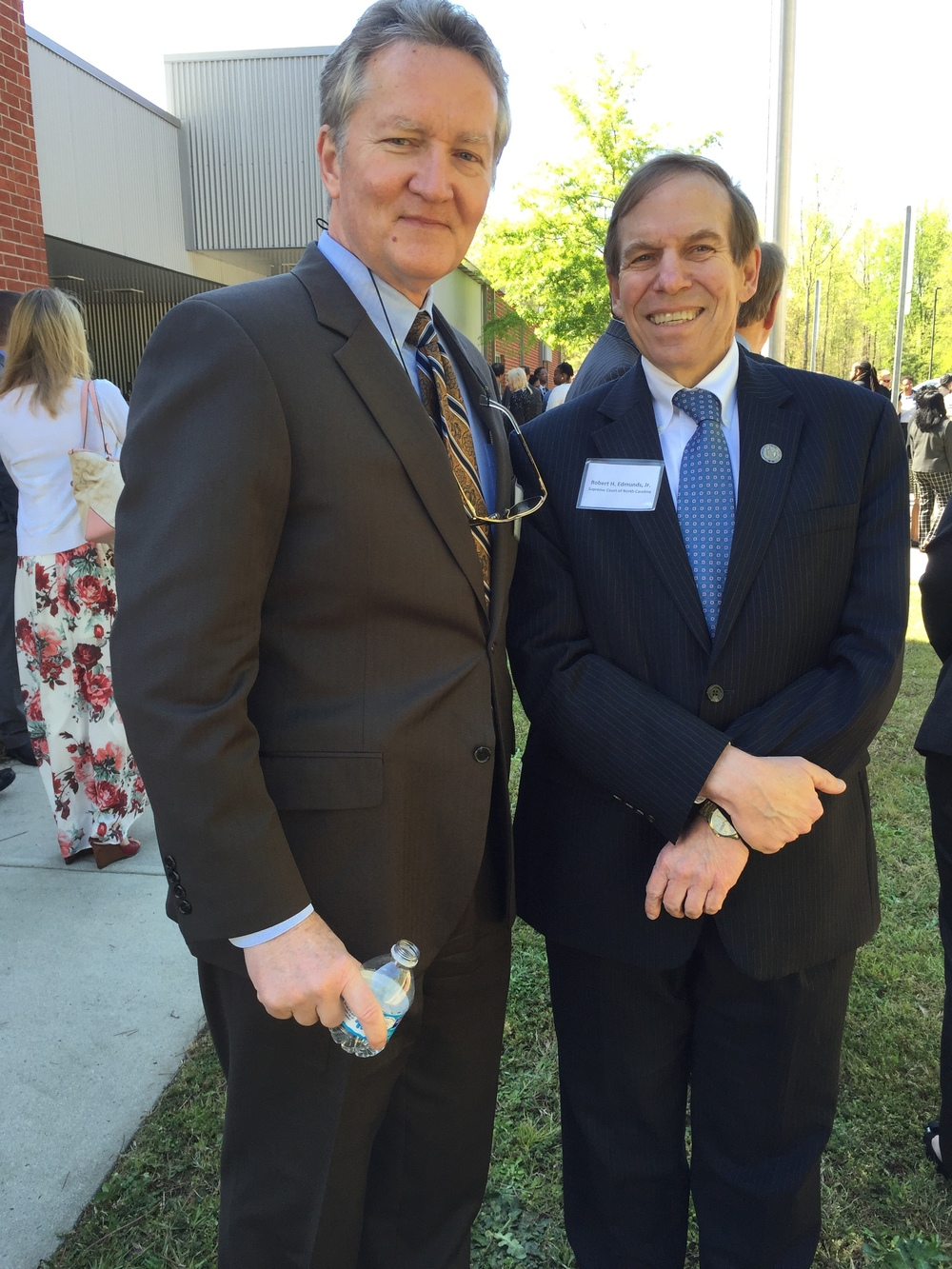 With Secretary of Public Safety Frank Perry at opening of renovated Edgecombe Youth Development Center, Rocky Mount, April 14, 2016.