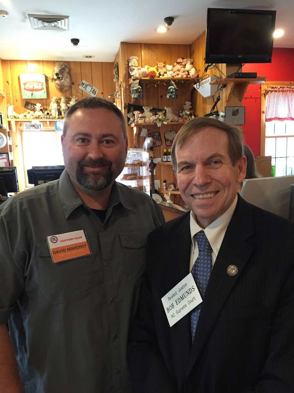 With Sheriff David Mahoney, Transylvania County.