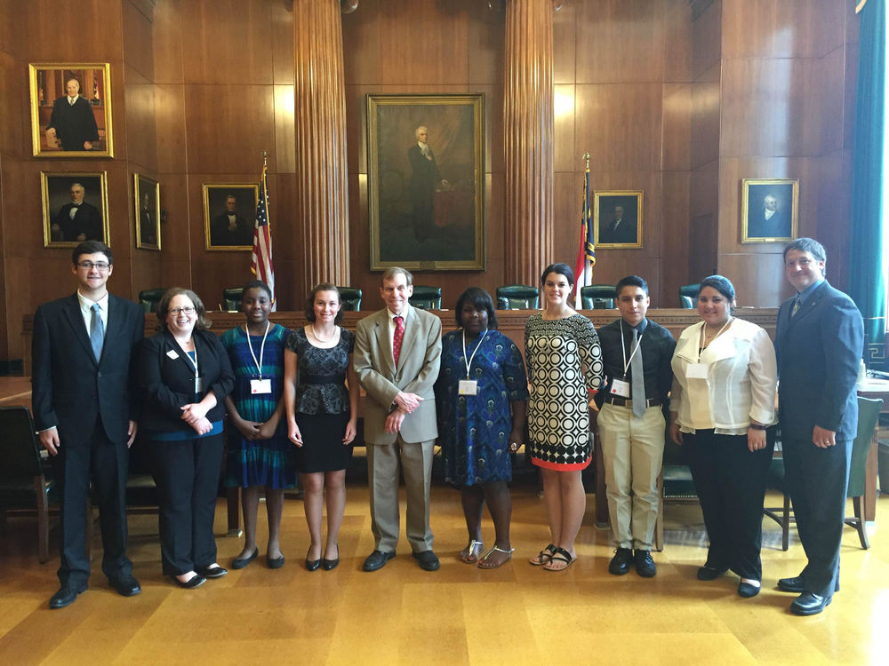 Speaking to 4-H group at the Supreme Court, June 15, 2015.