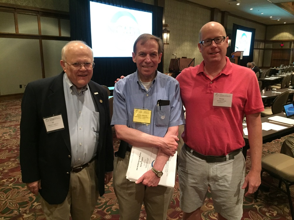 With former Court of Appeals Chief Judge Sid Eagles and former Research Assistant Kenny Hunt at annual convention of North Carolina Association of Defense Attorneys in Asheville, June 18, 2016.