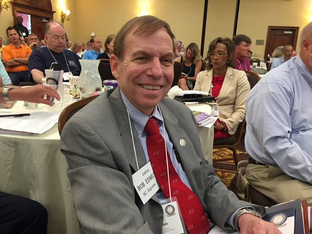 Earning continuing judicial education credit with friends at summer conference of District Court Judges, Wrightsville Beach, June 21, 2016.