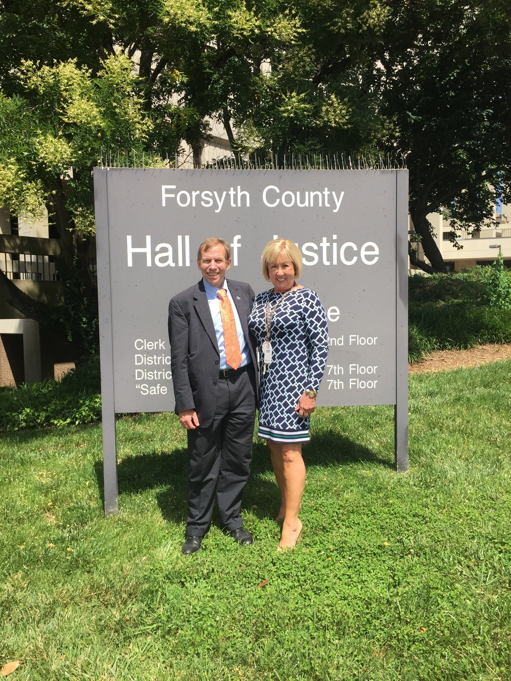 At Forsyth County courthouse with Clerk of Court Susan Frye, July 13, 2016.