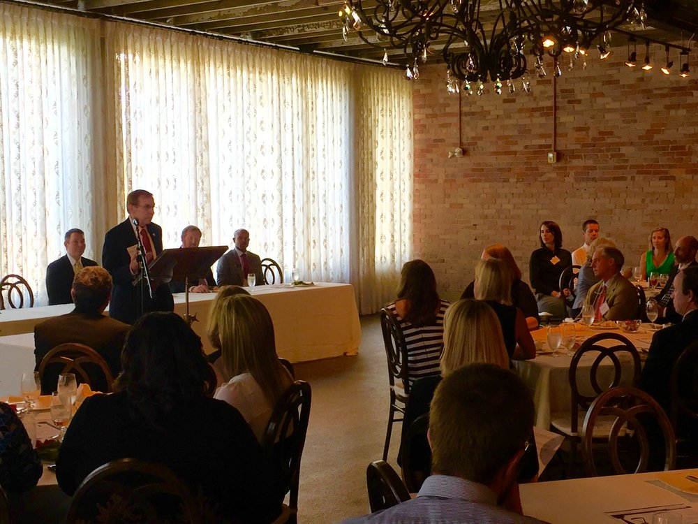 Speaking to the Asheville Bar Association, September 14, 2016.