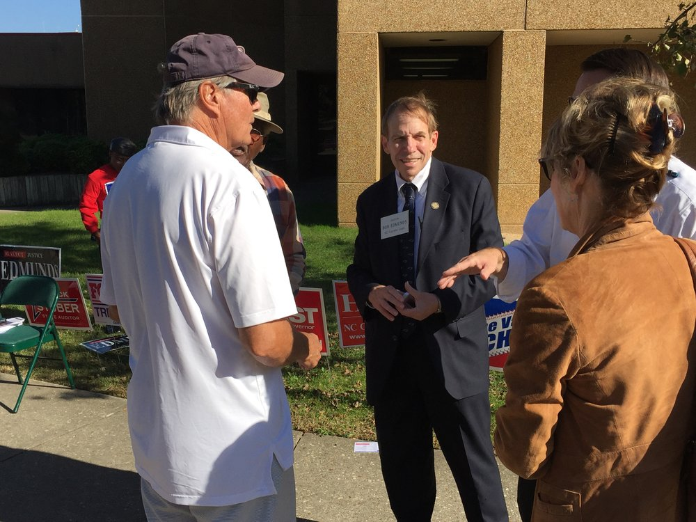With early voters in Cumberland County.