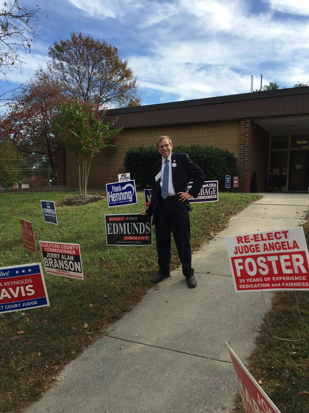 At early voting location in Greensboro, October 30, 2016.