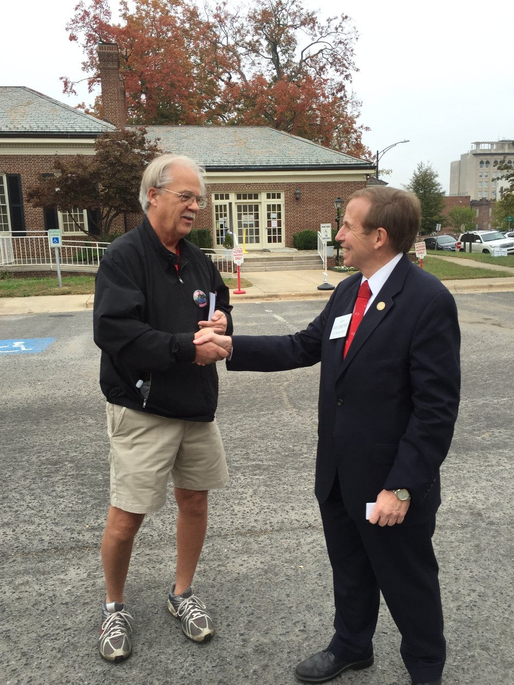 Working the early voting polls in Salisbury, November 1, 2016.