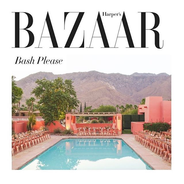 oh heeeey @bashplease is one of @harpersbazaarus Top Wedding Planners in the World! You ladies are amazing @syassin @molliejones
