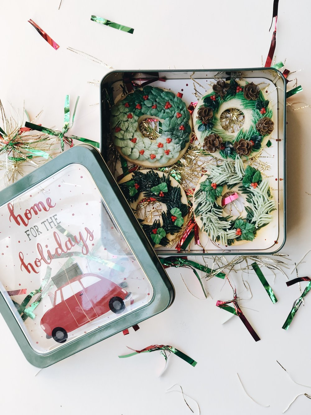 Holiday Cookies! - Sugar cookie wreaths available from December 1st-15th. The perfect dessert to spread holiday cheer throughout the month of December.*$40/dozen.Inquiry here  !