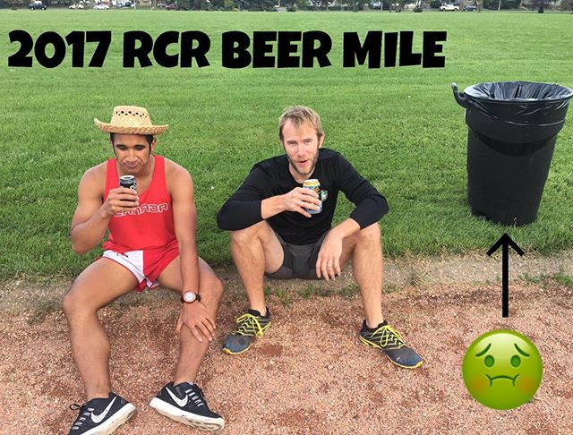 Tomorrow is the big day.  For those of you that resemble these two - we will have a garbage can on-site! The Beer Mile details:  1. 4 bells at McNally. 2. BYOB. 3. 🍻 🏃🏿rules = link in bio.