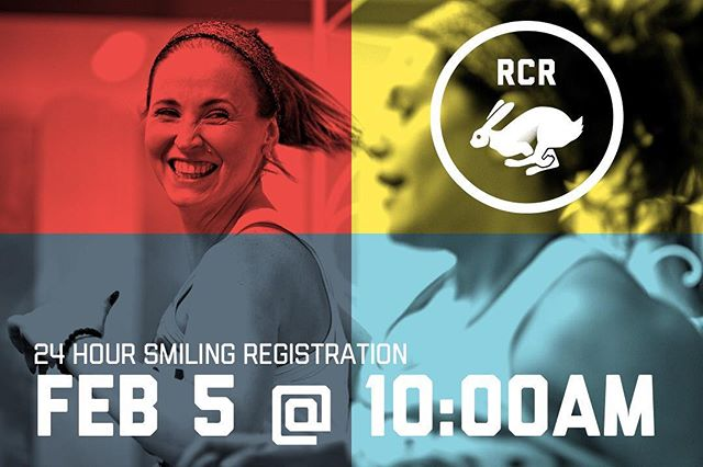 Polish up those pearly whites — registration for the 2018 24 Hour Treadmill Challenge is February 5th at 10:00AM. Treadmills sell out fast so make sure you are ready. #RCR24H #Smiles4Miles