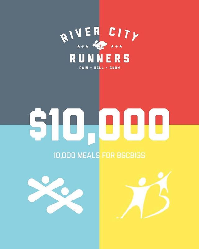 We are happy to announce that we've hit $10,000 dollars donated to @bgcbigs through our 2018 24 Hour Treadmill Challenge. Excited to get that much closer to our goal of $30,000 donated. Thanks to all our participants and donors #RCR24H