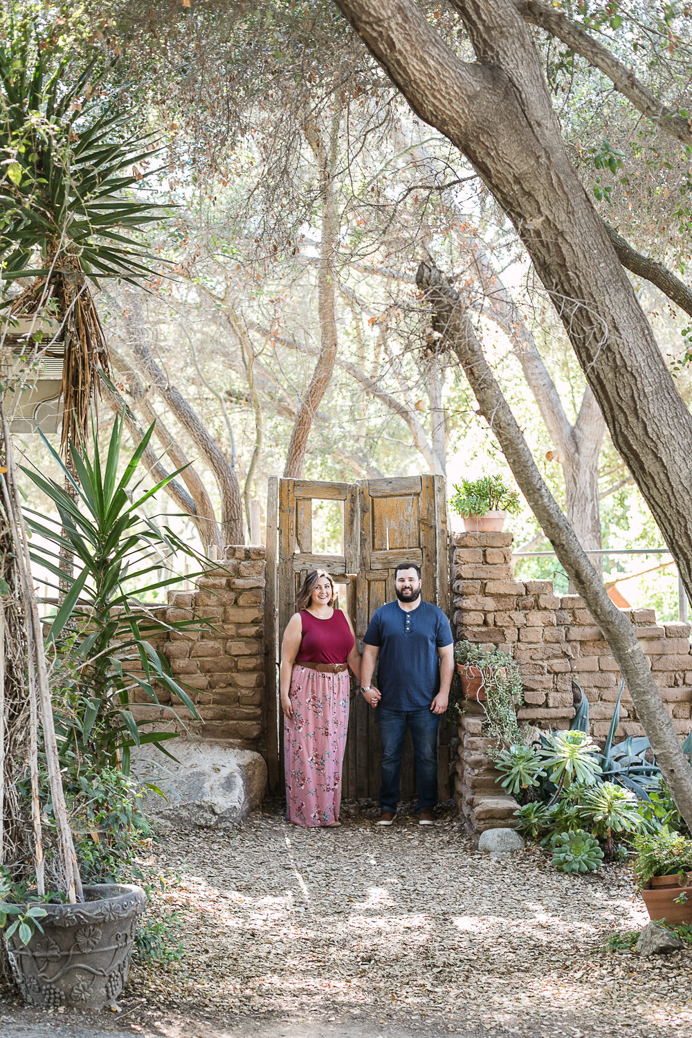 Kathryn and Dustins Myrtle Creek Botanical Gardens Fallbrook Engagement Session-6.jpg