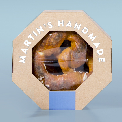Martin's Handmade package and branding hits the stores - May 2016  Swerve is excited to see the roll out of the new branding and packaging created for Martin's Handmade Pretzels.  First launched at the international food show in Chicago last year, the packages have been securing new orders and providing Martin's with a means to move from the marketplace to in-store retail. It has been a wonderful experience to bring about this transition and play a part in the continued success of such a delicious product.