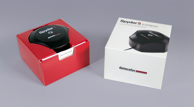 Datacolor Spyder5 packaging launch  New packaging, designed by Swerve, for the much anticipated Spyder5 screen calibration tool is launched. The new compact product is presented in an entirely paperboard construction, with significant size reduction and cost saving.
