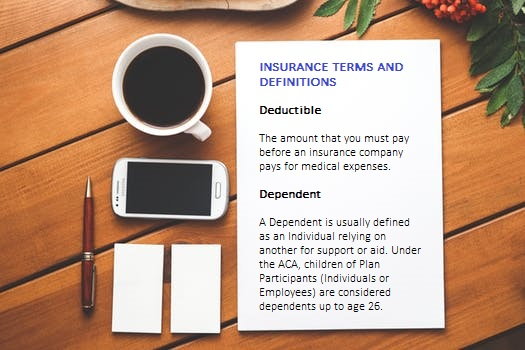 Insurance Terms and Definitions