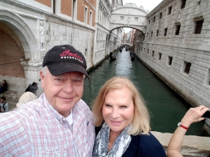 Steve and his wife, Marilyn, on Vacation in Italy