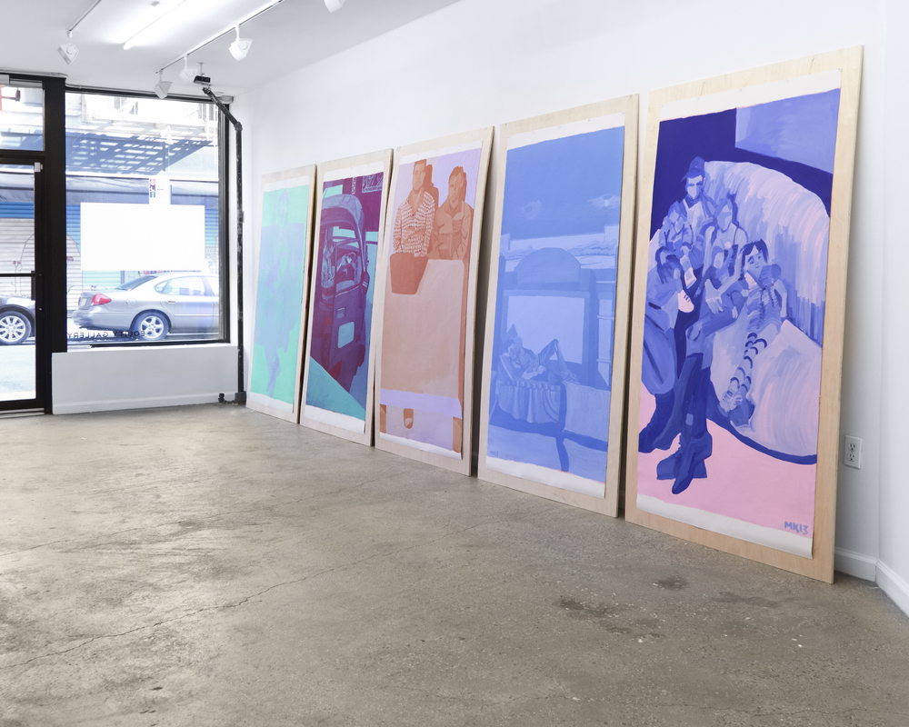 "Installation view, solo show, ""Meghan Keane, Displacement"" March 2016 Photo: Jeremy Hai (NY Art Photography)"