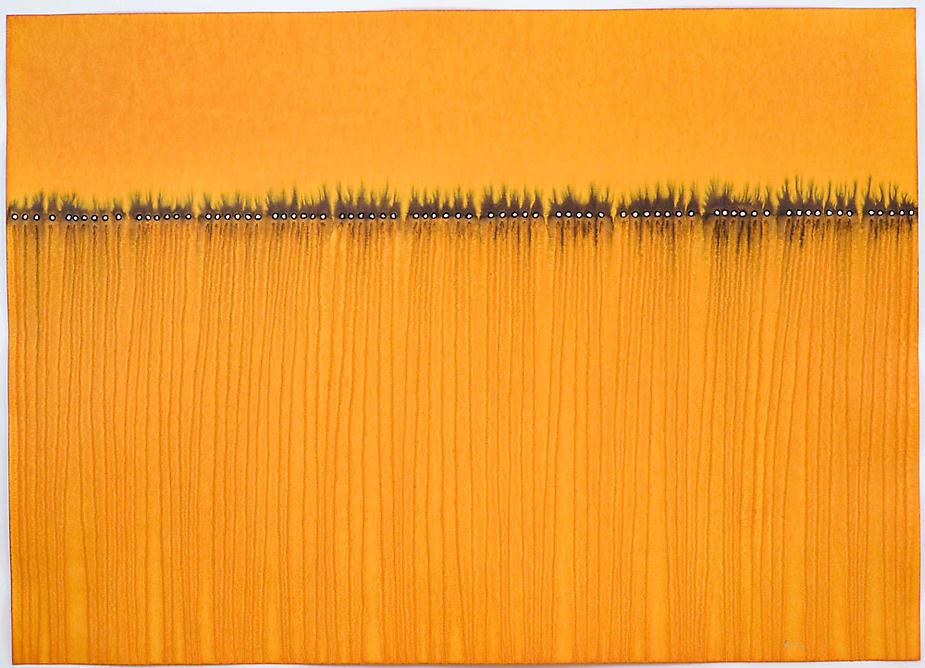"SOHAN QADRI,  Purusha VI  , 2008, Ink and dye on paper, 39 x 55"". Sundaram Tagore Gallery"