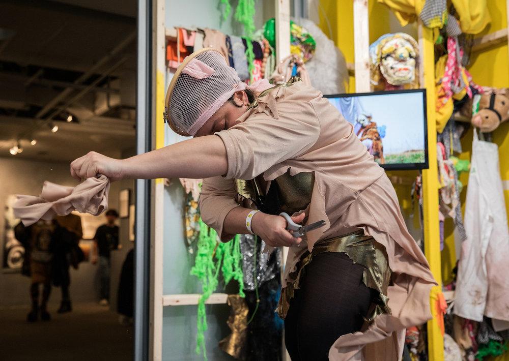 Katya Grokhovsky, Bad Woman Bad Bunny (2018),Performance and Installation, photo by Walter Wlodarczyk