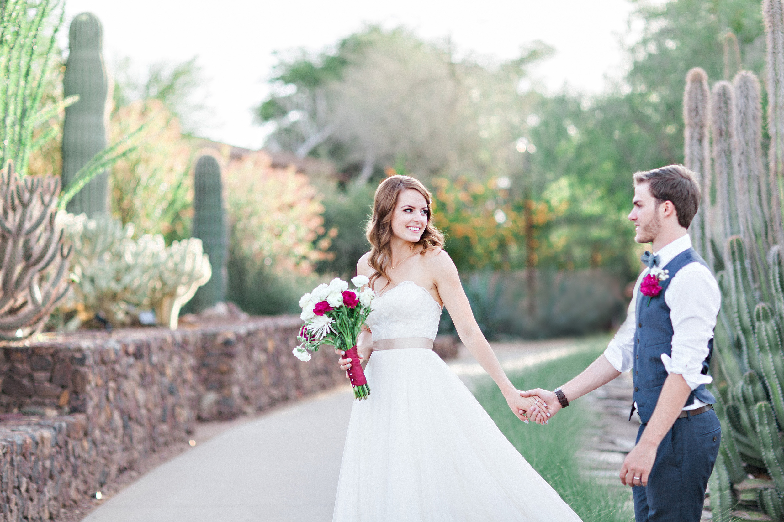Attirant Desert Botanical Garden Wedding