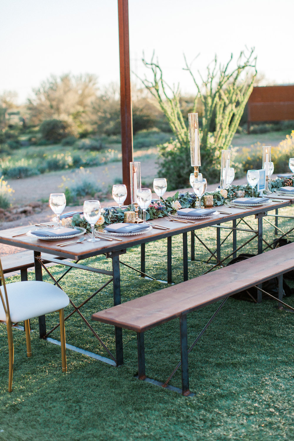the paseo wedding - family style al fresco dining