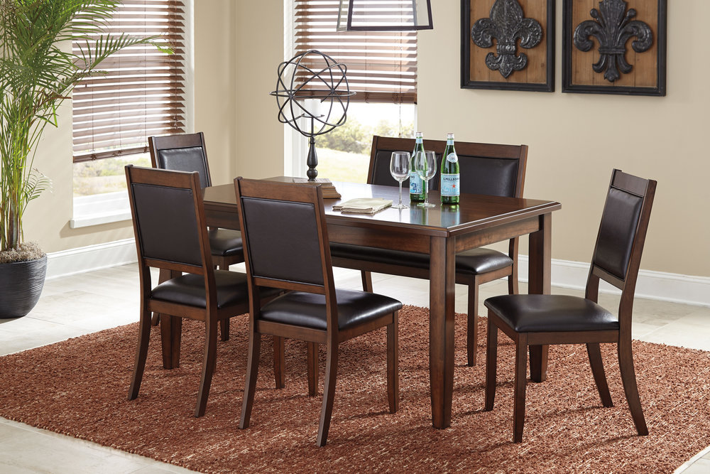 Ashley D395 325 6pc Meredy Dining Room Table