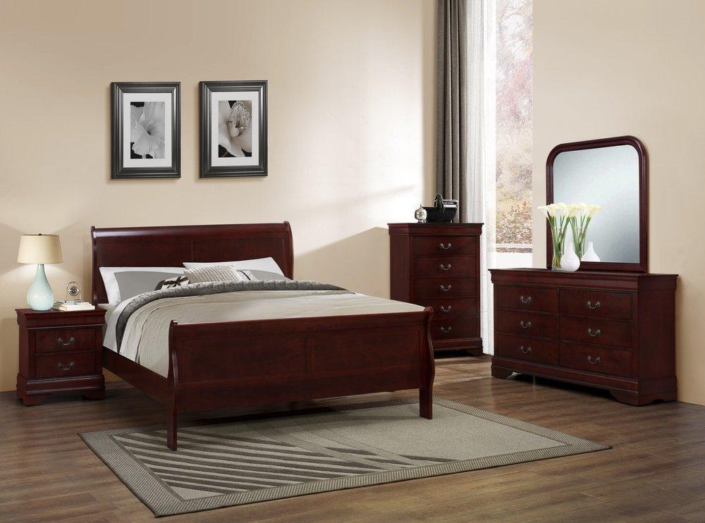 Louis Philippe 7pc Queen Bedroom Suite