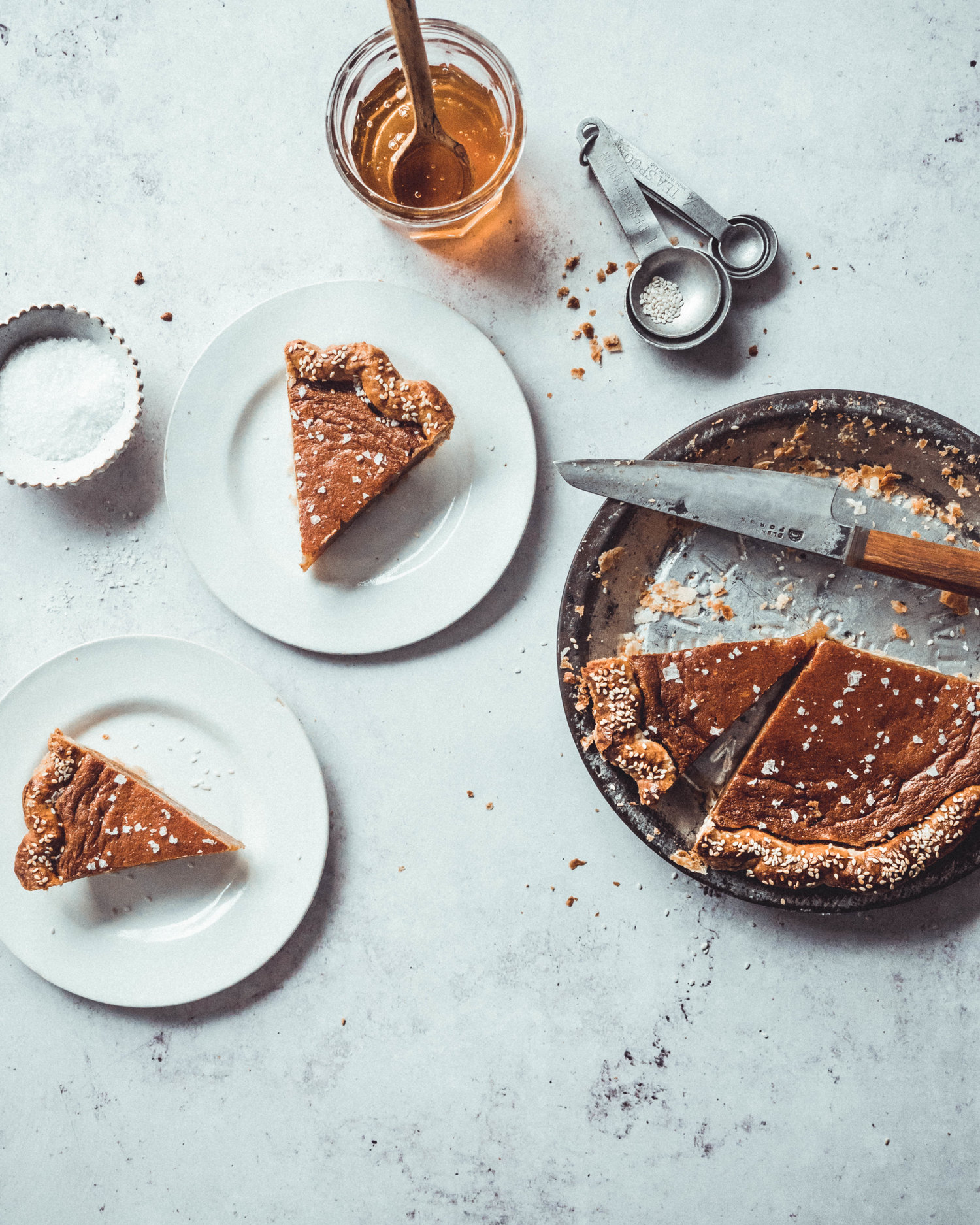 Salty Honey And Tahini Chess Pie The Boy Who Bakes