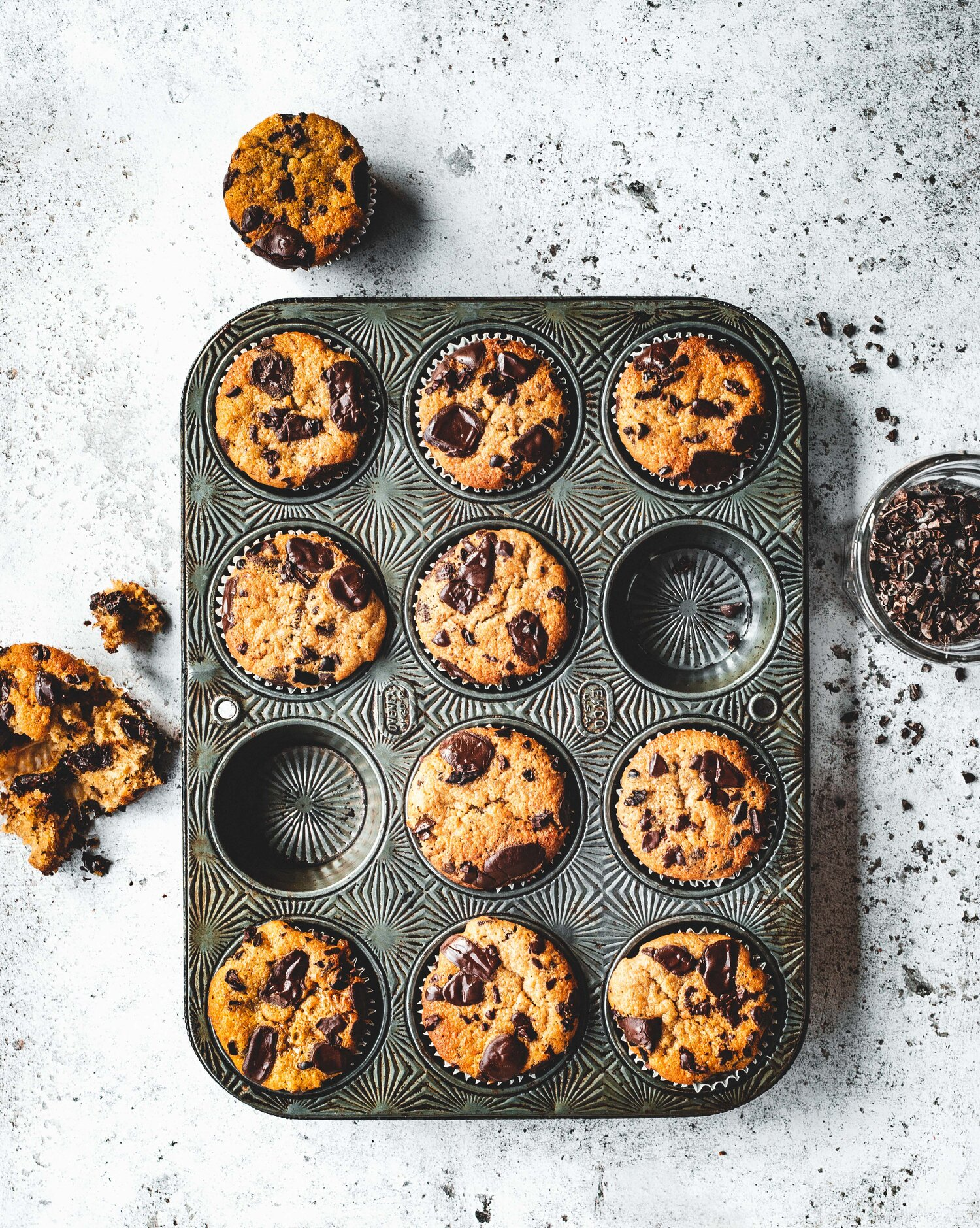 Sourdough Chocolate Chip Banana Bread Muffins The Boy Who Bakes