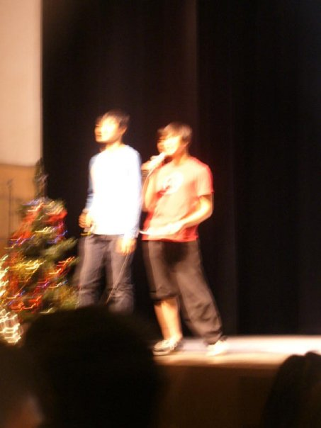 Me rapping and asking a very special girl to Winter Ball in front of 700 people. (2009)