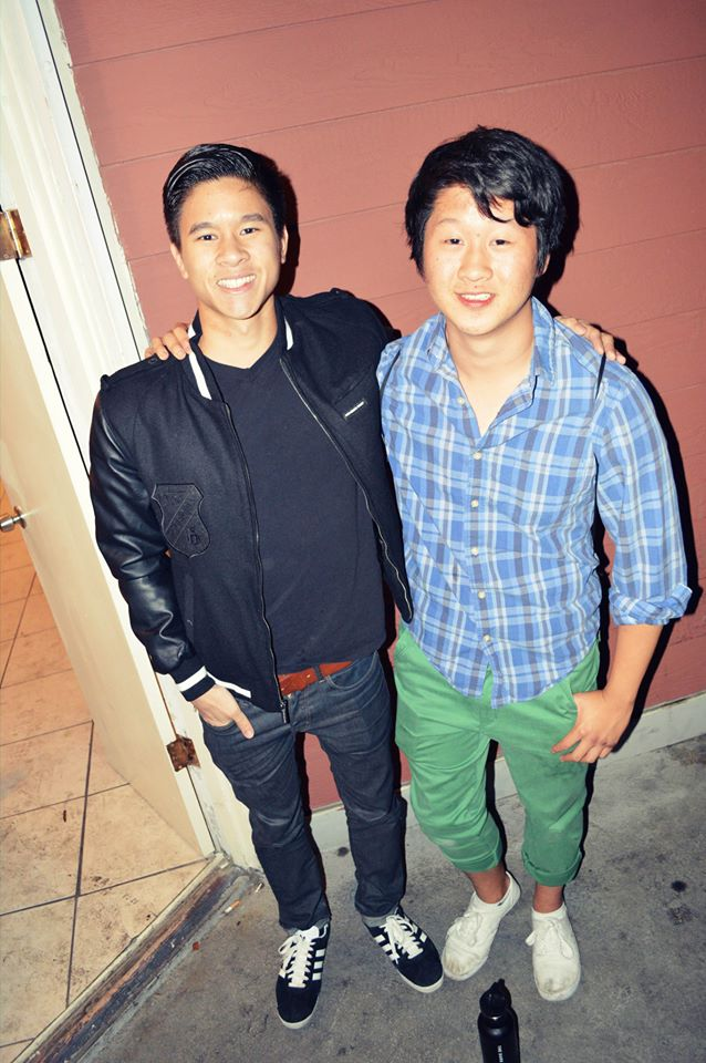 Notice the change in hair, fashion sense, and posture. (Hanging out with the Lil' Bro 2013)
