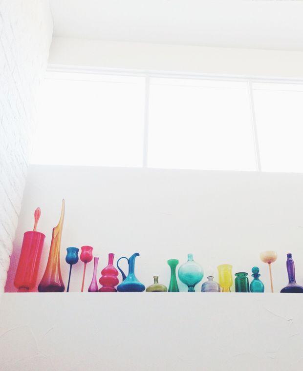 colorful bottles at the parker