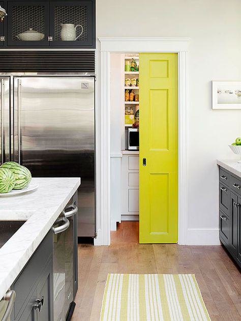 lemon lime pocket door via apartment therapy