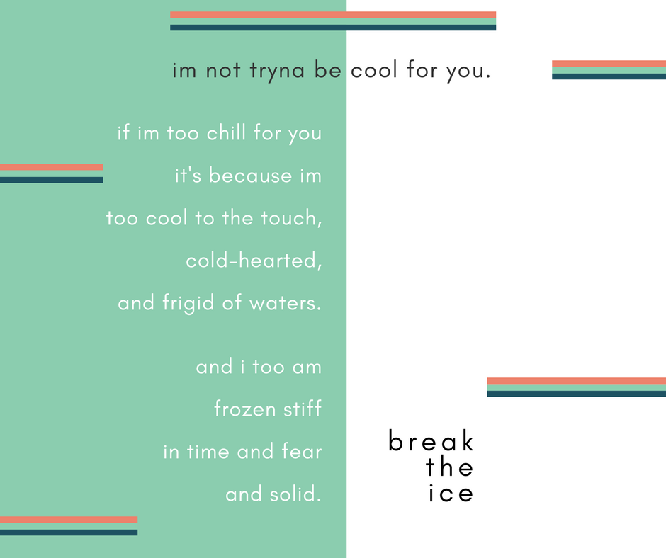 """break the ice"" 