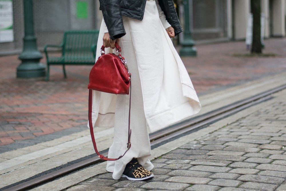 | off duty set x free people  | calf hair sneaker x ASL  | belts thrifted and collected  | Cafe de Flore bag x Cecile et Jeanne