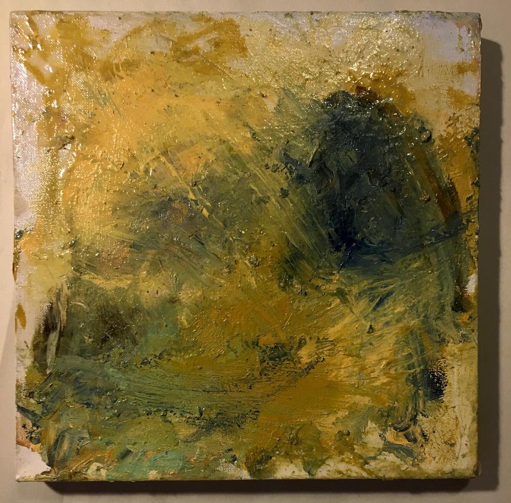 "storms (tutt tutt)   2016  acrylic on canvas  12 "" x 12 """