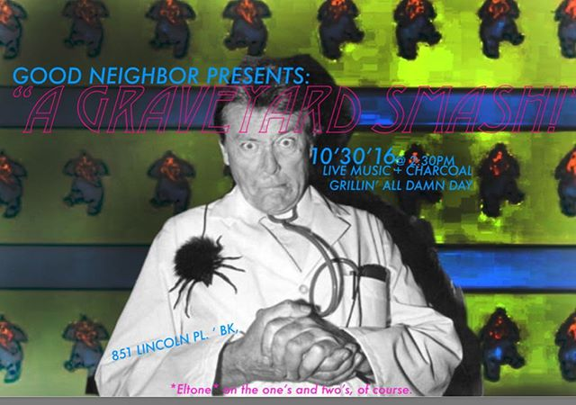 Join us this Sunday for a very special graveyard smash. 851 Lincoln Place, Brooklyn. 2:30