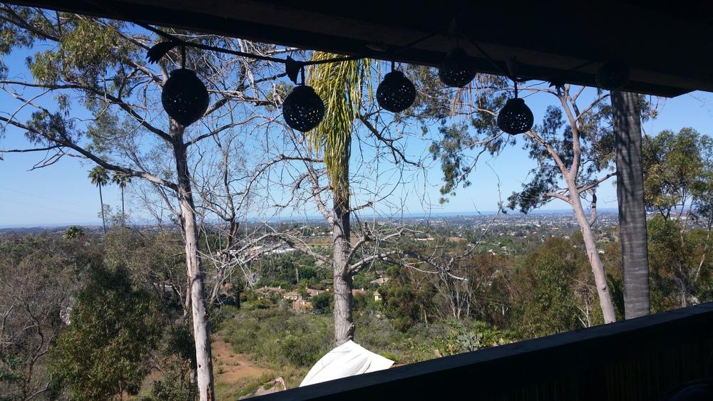 Deck view from Vayu located 40+ mins North of San Deigo, California