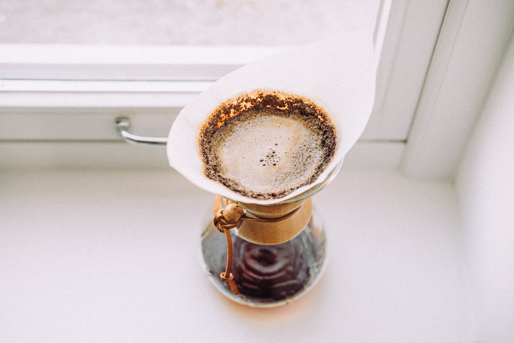 One of my favorite ways to brew is with a Chemex!
