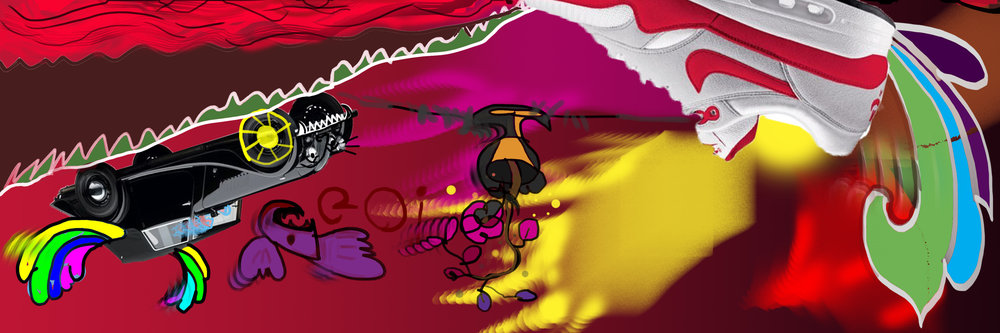 @infinite_canvas, row 1, my on-going digital art project.