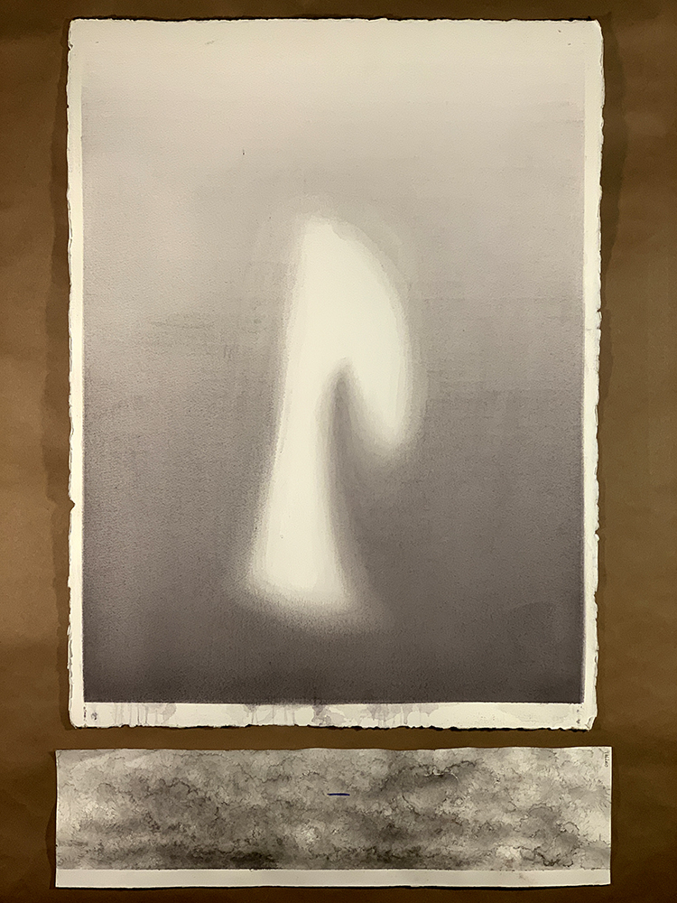 "Untitled (Shade), 2018. Watercolor on Paper. 30"" x 22""."