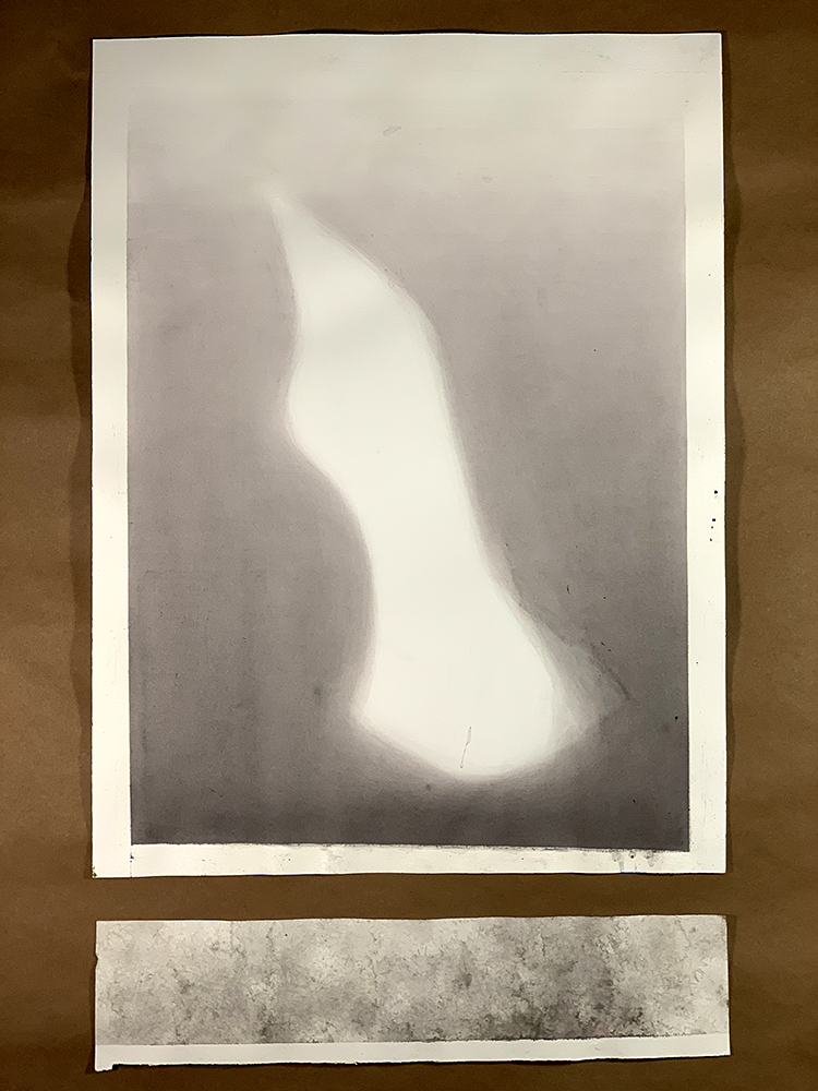"Untitled (Shade), 2018. Watercolor on Paper. 24"" x 18""."