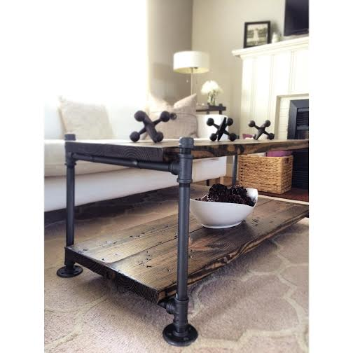 Industrial Style Coffee Table - Coffee + End Tables — Reclaimed Goods